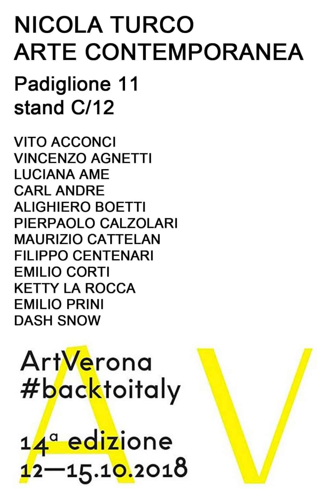 Filippo Centenari | Art Verona 2018 #backtoitaly